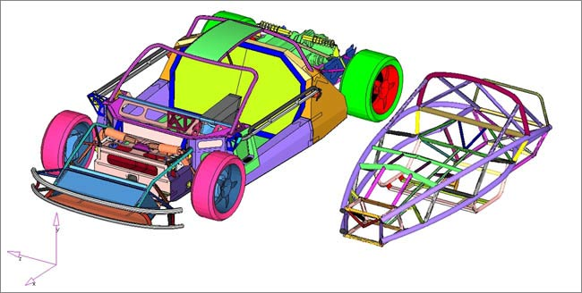 Vehicl Development using FEA